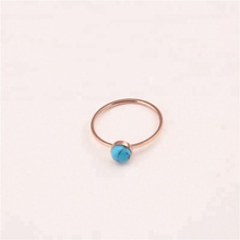 Wholesale Women Girl's Jewelry Ring Natural Gemstone Engagement Turquoise Stone Rings
