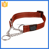 Fashion unique nylon dark red martingale dog collar