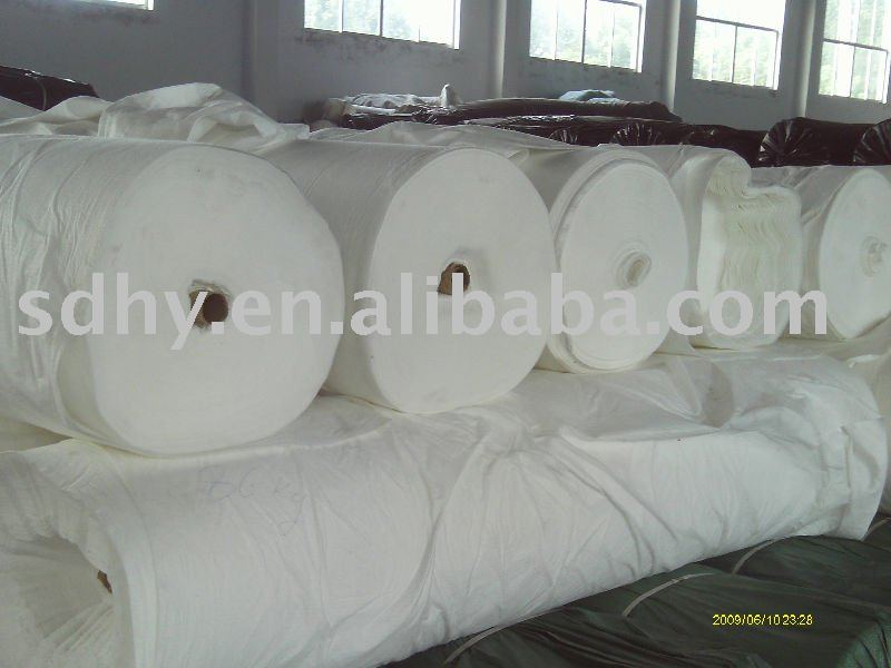 150g/m2 Polyester Filament calendered/textured/singeing/heat set non woven geotextile for asphalt road construction