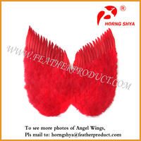 Red Colored Goose Feather Angel Wings