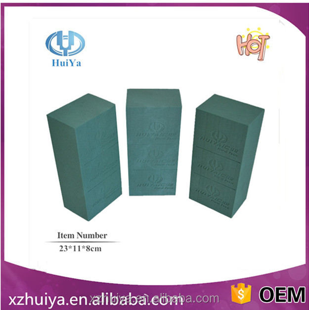 Rectangular flower foam with a suction cup wedding car decoration preferred flower foam factory direct sell