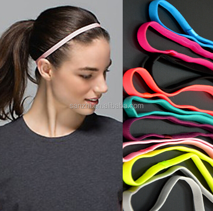 Women Workout Running Gym Hairband Neon Sweatband Training Elastic Sports Headband
