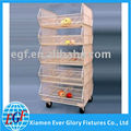 5 Tier Movable Metal Wire Merchandise Display Rack