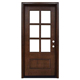 Wholesale Mahogany American Modern Style Exterior 6 Panel Glass Design Wood Entry Doors