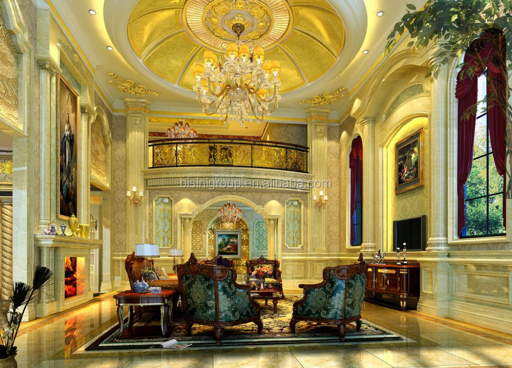 Classic antique baroque design star hotel interior 3d for Hotel interior and exterior design