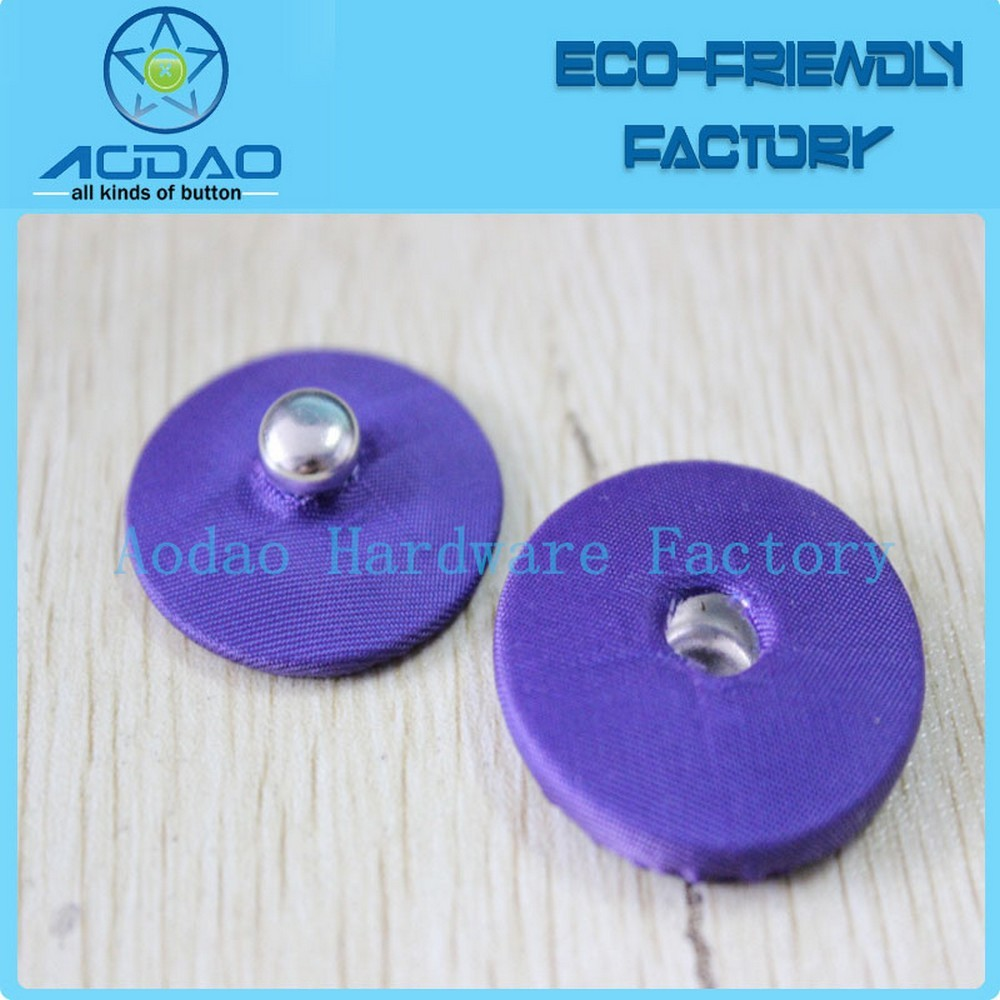 Custominzed colorful fabric fastener hidden snap button