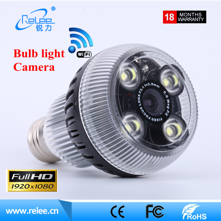 2017 New Wifi 1080P Security IP Camera Motion Detection hidden camera led light Lamp Bulb Camera