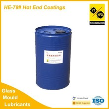 Glass plant hot spray protective coating for glass