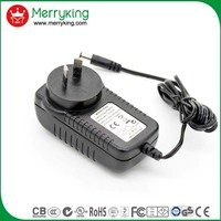 S-mark approved AR plug 24W universal ac power adapter 24V1.5A switch plug adapter with CIG 023 factory inspection report