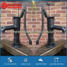 cast iron black finished water hand pump as water featutre