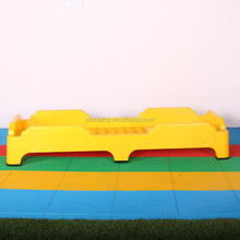 Durable manufacturer cheap school furniture supplier children sleeping cot stackable kindergarten plastic kids bed