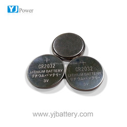 dry cell battery sizes 20*32 factory price YJ button cell 3.0v 210 mah cr 2032 lithium battery for watch,laptop,