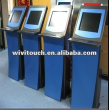 2012 popular 24'' infrared touch cell phone charging kiosk