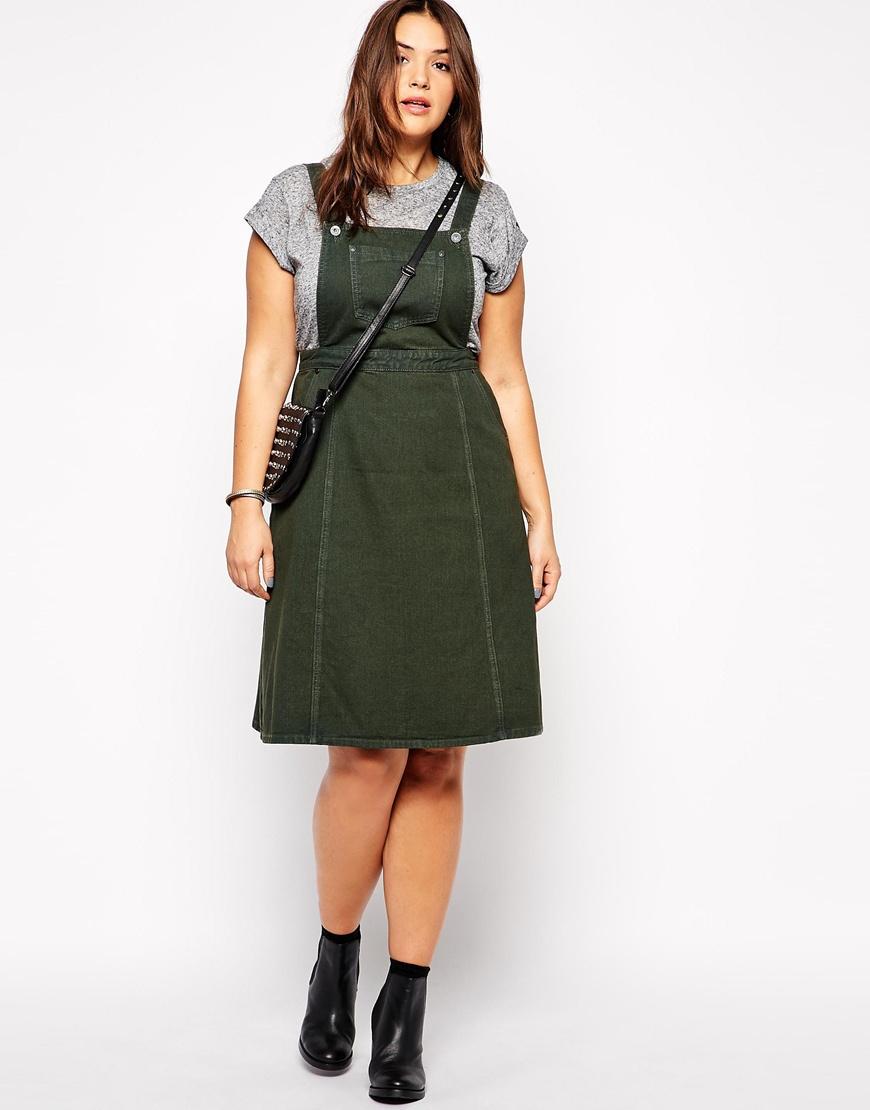 Ladies Knee Length Denim Pinafore Dress Buy Denim Dress