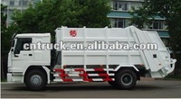 howo rear loader garbage truck for sale12m3