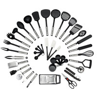 38 piece cooking tools nylon and stainless steel handle kitchen utensils set