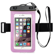 China Manufacturer PVC 100% Waterproof Cellphone Case with Arm Belt