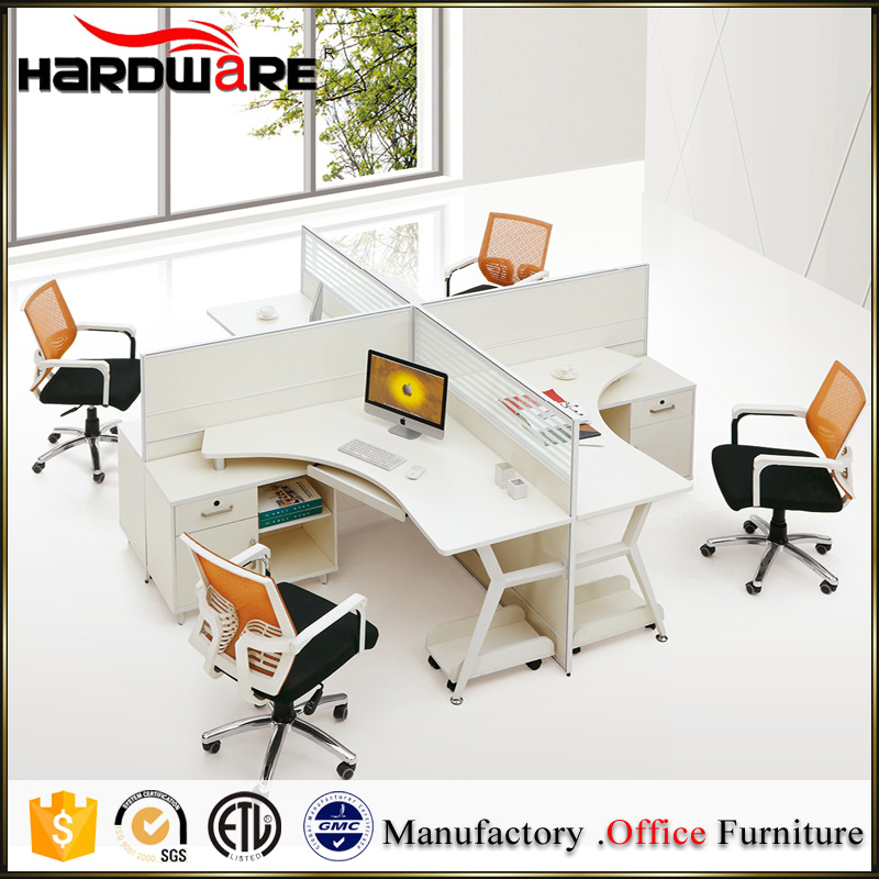 Modern office table photos of modular furniture four person office table