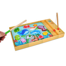 12 Fishes + 2 Fishing Rods Wooden Children Toys Magnetic Play Game Box Kids Educational Toy christmas Gift Boy girl