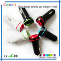 Hot selling Factory Car Accessories Usb Car Charger Colorful Automatic Mobile Phone Car Charger