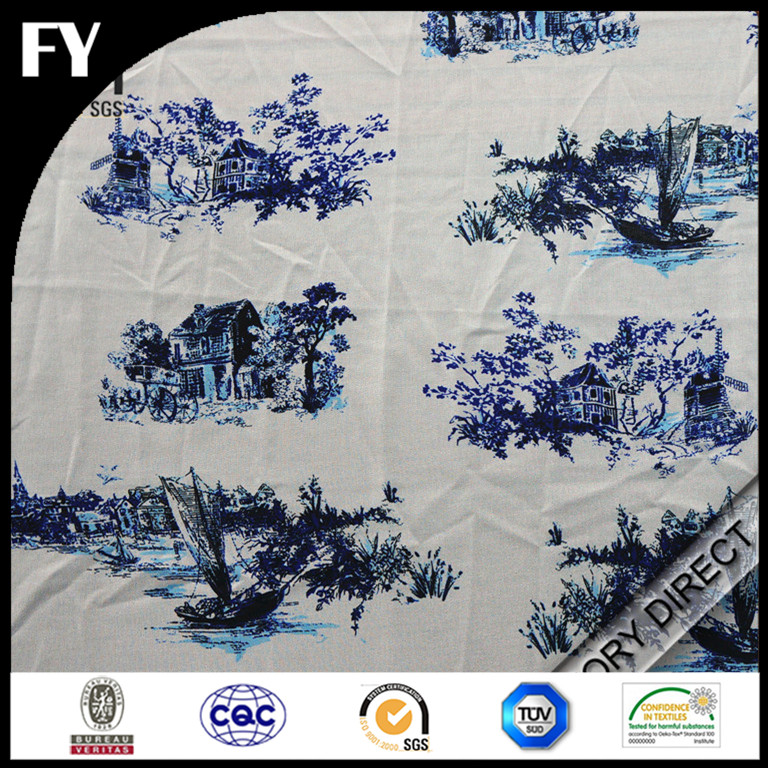 Factory digital print high quality silk net fabric