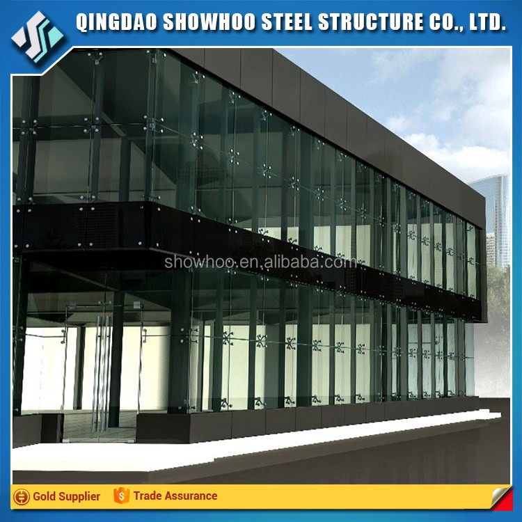 chinese supplier light steel frame industrial car showroom steel structural prefab buildings for sale