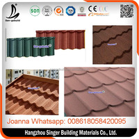 Types of stone coated roof tiles classical type, customized stone coated metal roof tile
