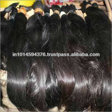 "HOT SALE VIRGIN NATURAL REMY INDIAN HAIR BULK 20"" VIRGIN WEFT HAIR WEAVE"
