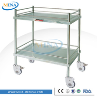 MINA-IT012 Cheap stainless steel surgery tool trolleys for patient use