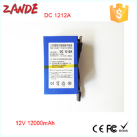 Super DC 12V 12Ah lithium ion battery for backup power security camera ysd-121200