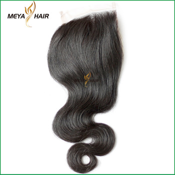 pelo 100% humano lace closure wig with body wave Indian virgin hair
