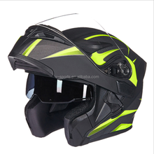 2017 DOT Flip Up helmet Motorcycle Helmet motos casco capacete Modular helmets With Inner Sun Visor safety double lens racing he