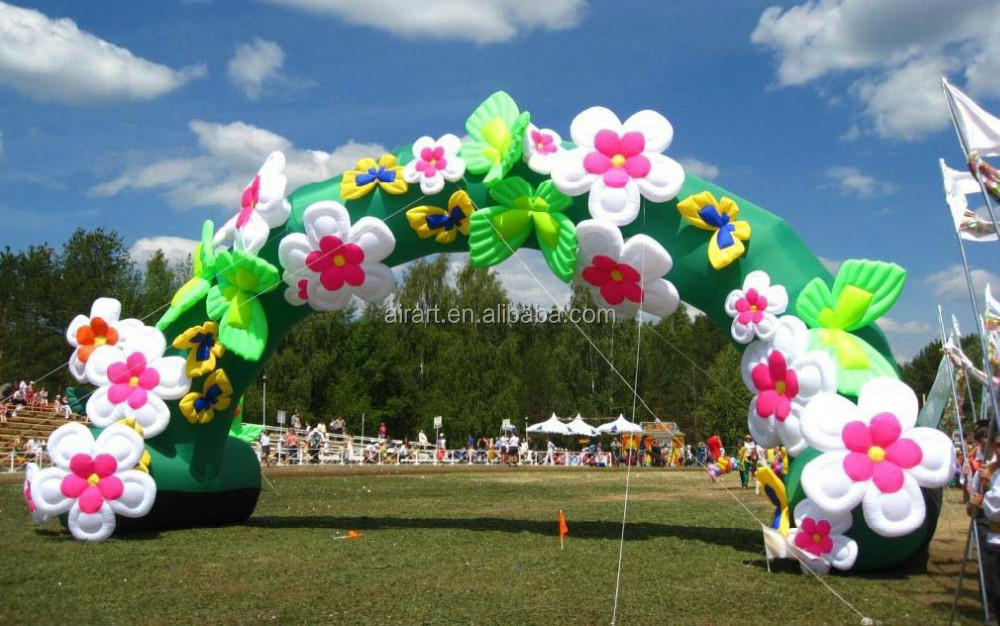 Flower heart decoration inflatable wedding arches buy inflatable wedding arches