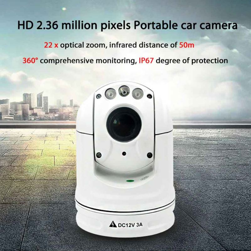 outdoor multi angle car view surveillance dome camera