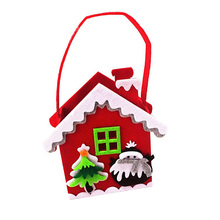 Christmas Decoration Fabric Felt Santa Candy Gift Bag For Kids