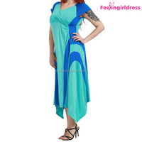 Mixi Sexy Light Blue Fat Women Clothing Wholesale Summer Dress