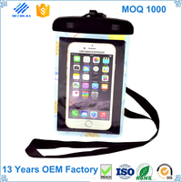 2015 new product waterproof EVA clear cell phone bag WKP5407