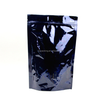 Stand Up pouch black colour Plastic Flexible Packaging Bag with resealable zipper Flexible Packaging