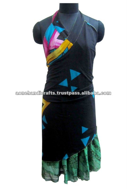 Ladies Fancy Wrap Skirt Dress, Ladies Wrap Skirt Dress, Girls Wrap Skirt