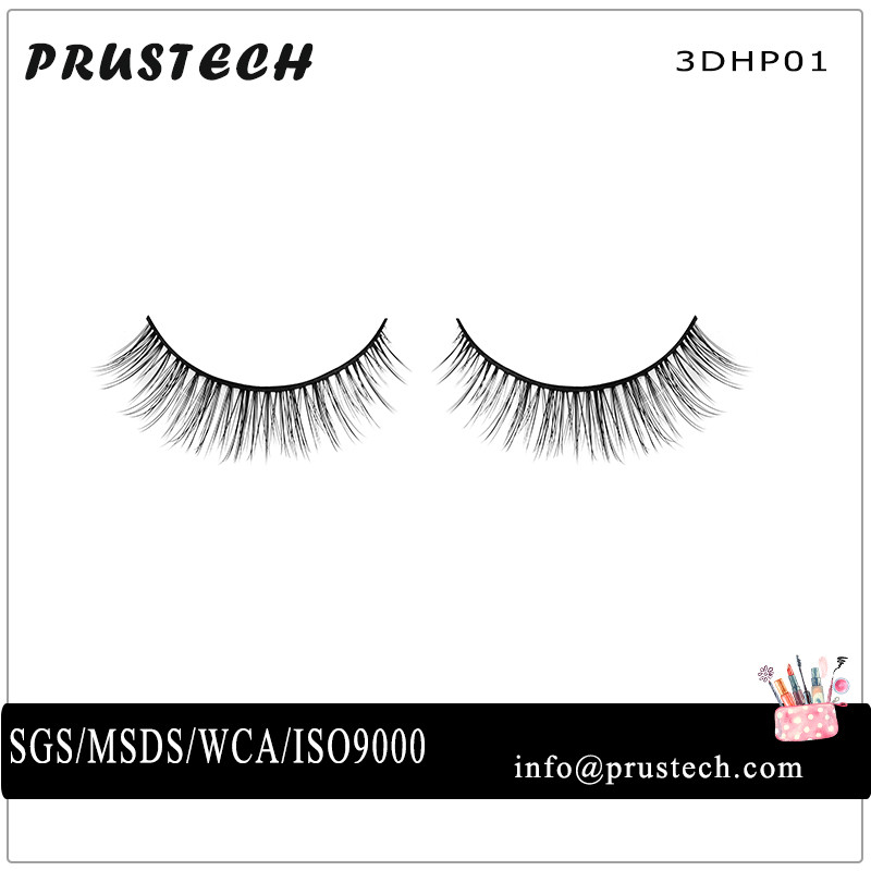 Hot Sale Super ellipse flat eyelash extensions rapid lash cheap hair extensions handmade 3DHP