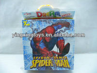jigsaw puzzle,plastic diy toy spider man puzzle game