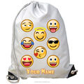Emoji Sunglass 3D School Bag Drawstring Backpack Satchel Women Shoulder Rucksack