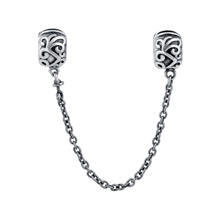 Hot Selling Fashion Cheap Metal Silver 925 Double Ball Chain Beads