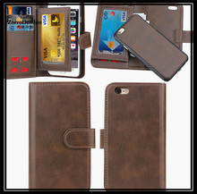 For iPhone 6 Card Case Synthetic Leather Wallet Case Ultra Slim Professional Executive Snap On Cover with Credit Card Holder Bro