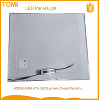 Historical Cheappest 40W 3000Lumens constant Driver 2 year warranty 600X600 LED Panel Light 10USD 2ft x 2ft led panel light
