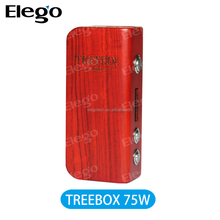 SMOK new wooden box mod Mini Treebox 75W vari wattage ecig vapor mod from Elego
