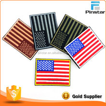 Factory Custom Made Tactial American Flag Applique Iron On Embroidery Patch