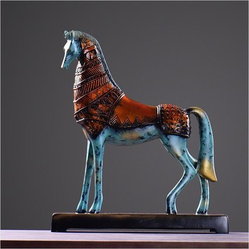 wholesale home decor resin crafts bronze like horse sculpture