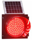 Solar Powered Led red green yellow Flashing Beacon Warning Lights