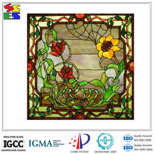2015 Best selling hot sale fashionable home decorative stained showcase glass windows